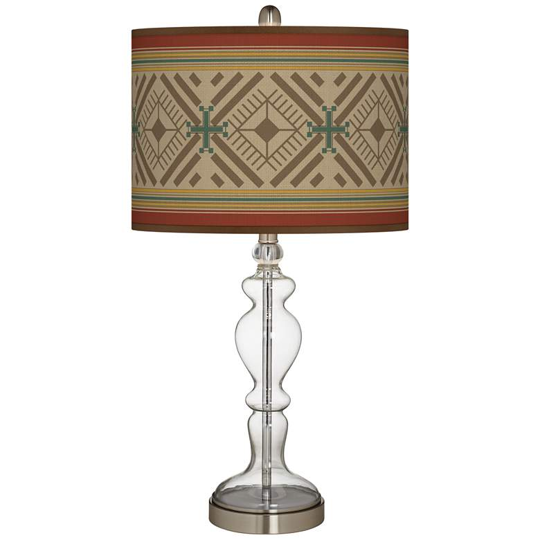 Desert Diamonds Giclee Apothecary Clear Glass Table Lamp