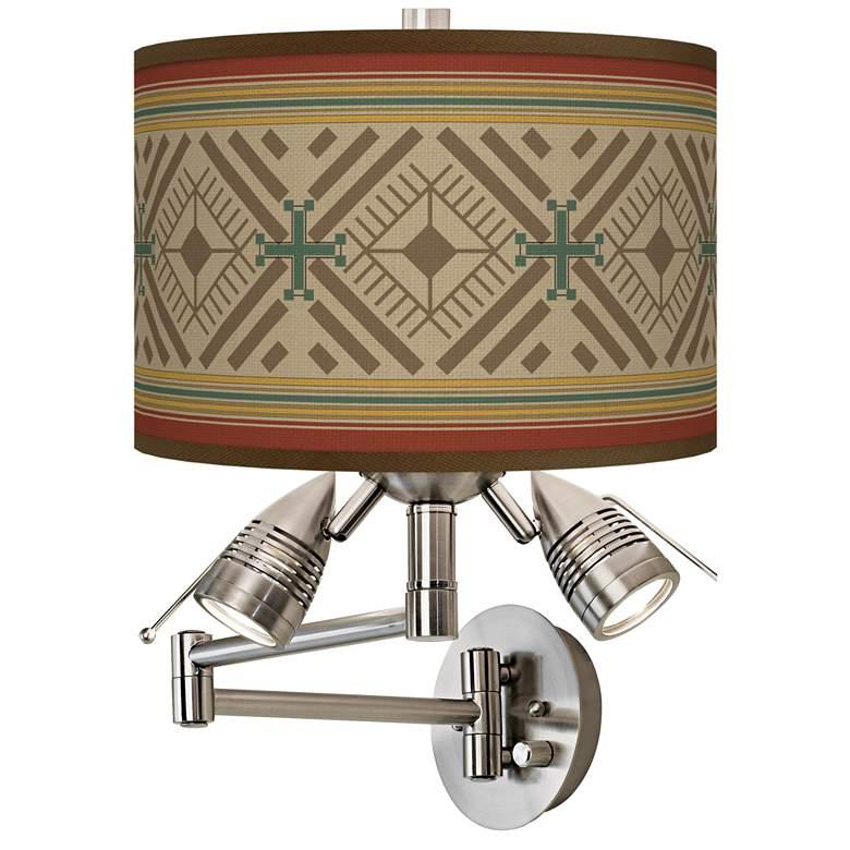 Desert Diamonds Giclee Plug-In Swing Arm Wall Lamp