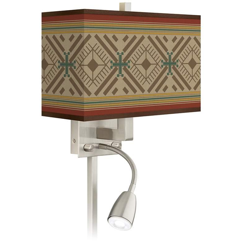 Desert Diamonds Giclee Glow LED Reading Light Plug-In Sconce