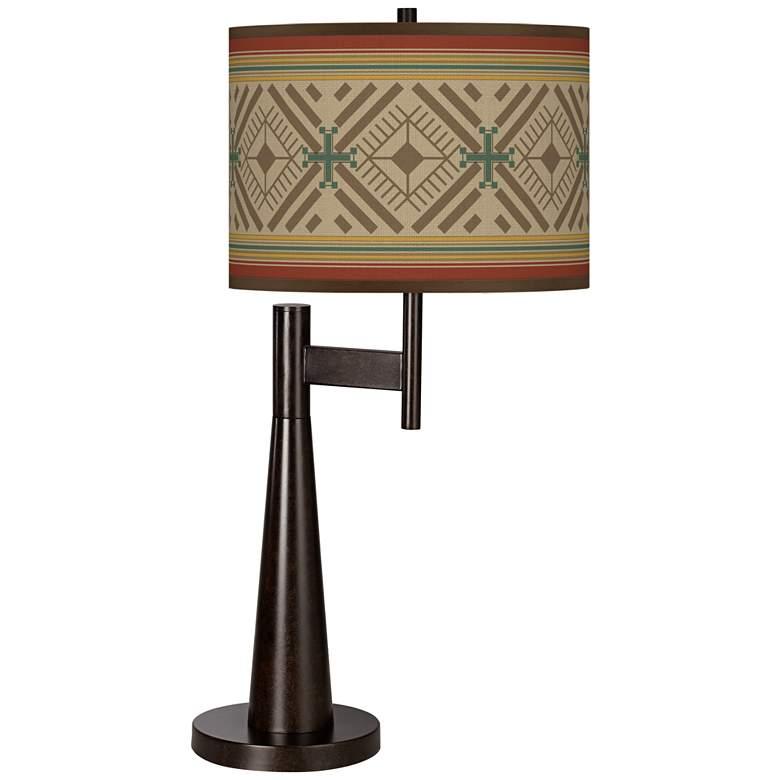 Desert Diamonds Giclee Novo Table Lamp