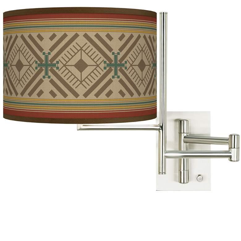 Tempo Desert Diamonds Plug-in Swing Arm Wall Lamp