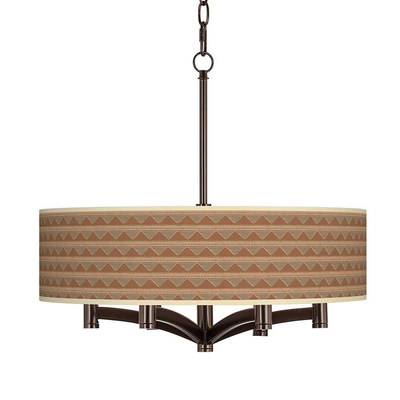 Desert Canyon Ava 6-Light Bronze Pendant Chandelier