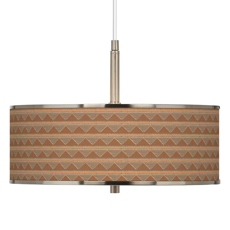 "Desert Canyon Giclee Glow 16"" Wide Pendant Light"
