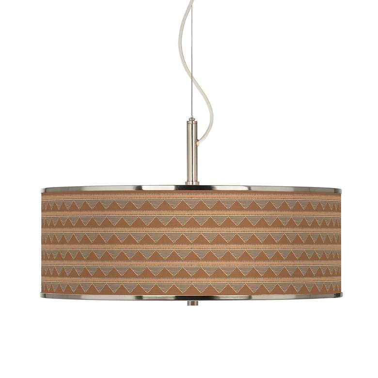 "Desert Canyon Giclee Glow 20"" Wide Pendant Light"