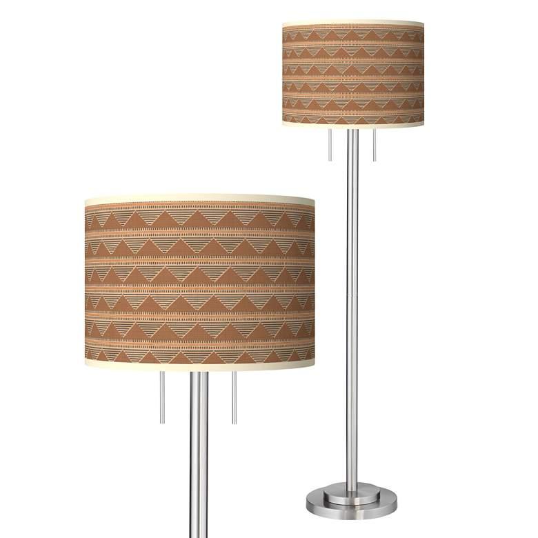 Desert Canyon Giclee Brushed Nickel Garth Floor Lamp