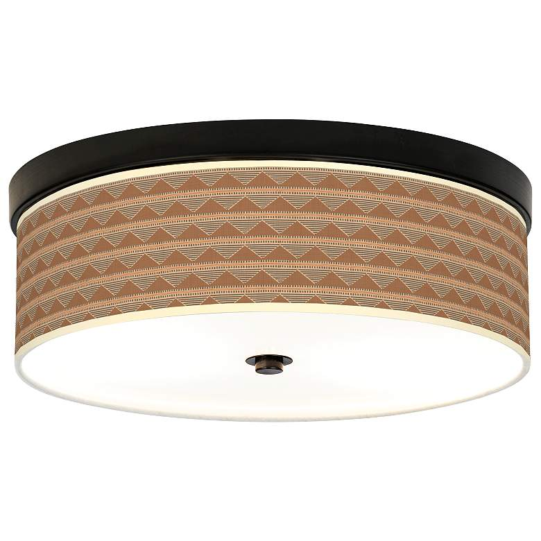 Desert Canyon Giclee Energy Efficient Bronze Ceiling Light