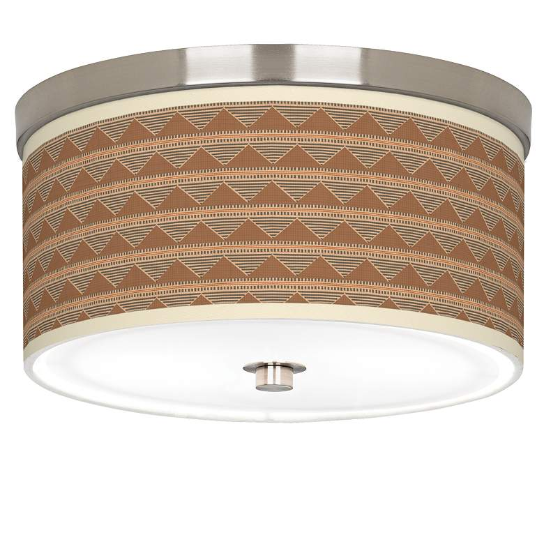 "Desert Canyon Giclee Nickel 10 1/4"" Wide Ceiling Light"