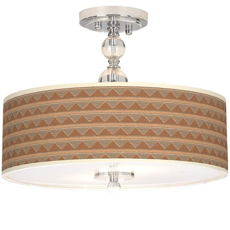"""Desert Canyon Giclee 16"""" Wide Semi-Flush Ceiling Light"""