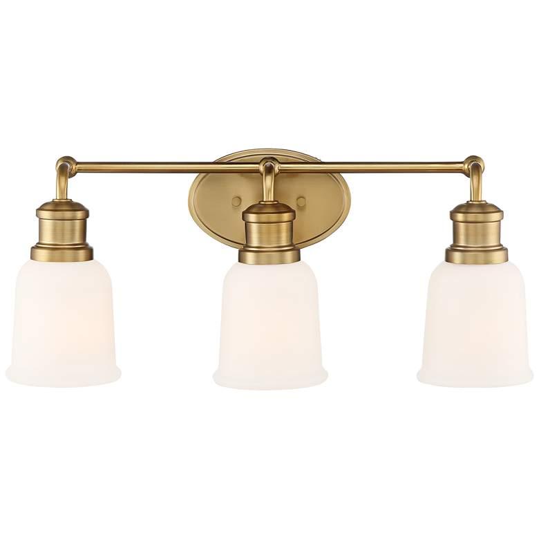 "Possini Euro Yorkton 21 3/4""W Soft Gold 3-Light Bath Light"