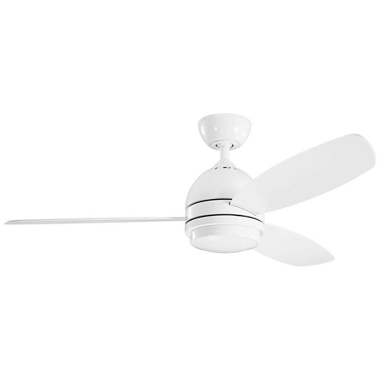 """52"""" Kichler Vassar White LED Ceiling Fan"""