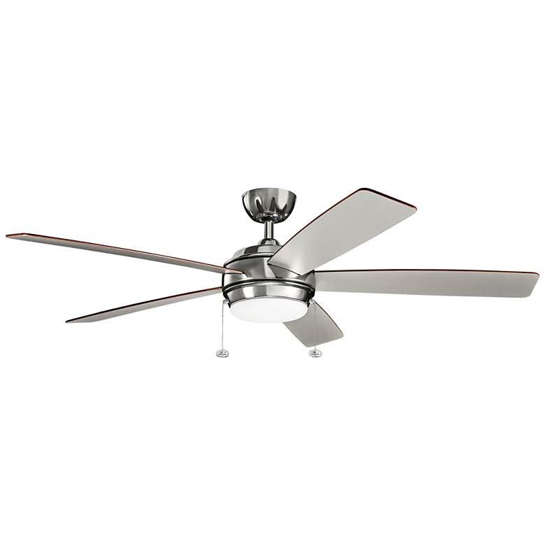 "60"" Kichler Starkk Polished Nickel LED Ceiling Fan"