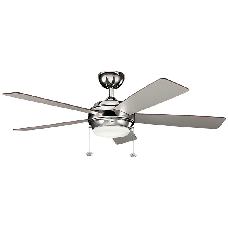 "52"" Kichler Starkk Polished Nickel LED Ceiling Fan"