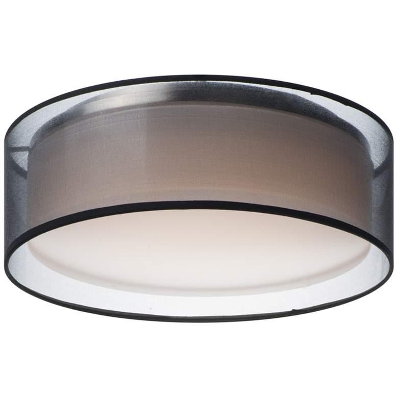 "Maxim Prime 16"" Wide Black Organza Drum LED Ceiling Light"