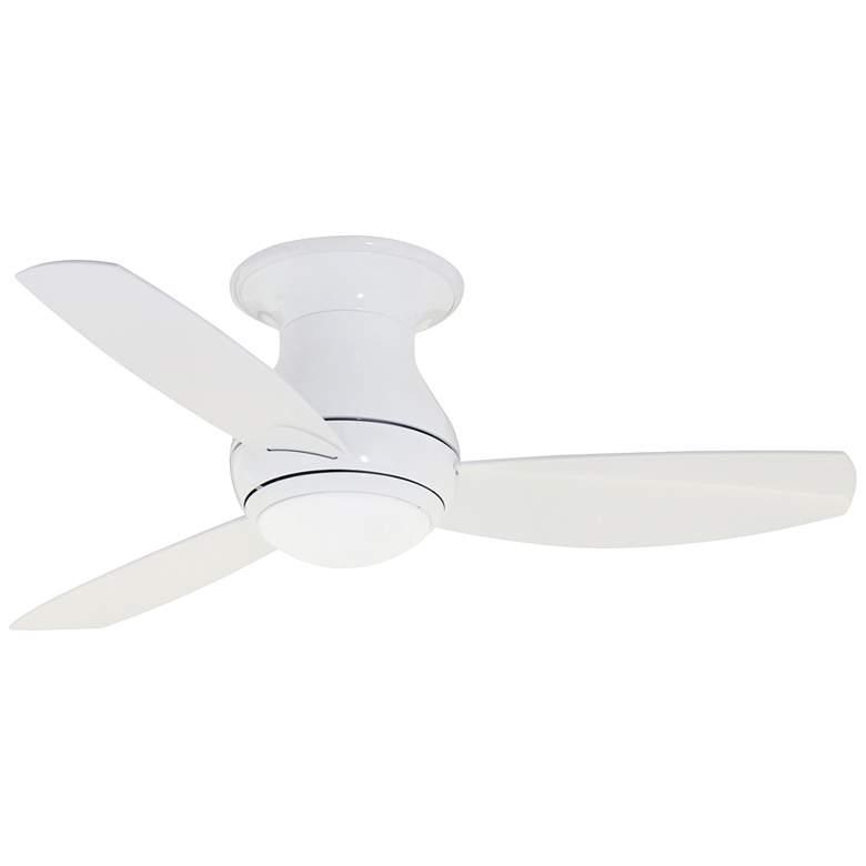 """44"""" Curva Sky Appliance White LED Wet Hugger Ceiling Fan"""