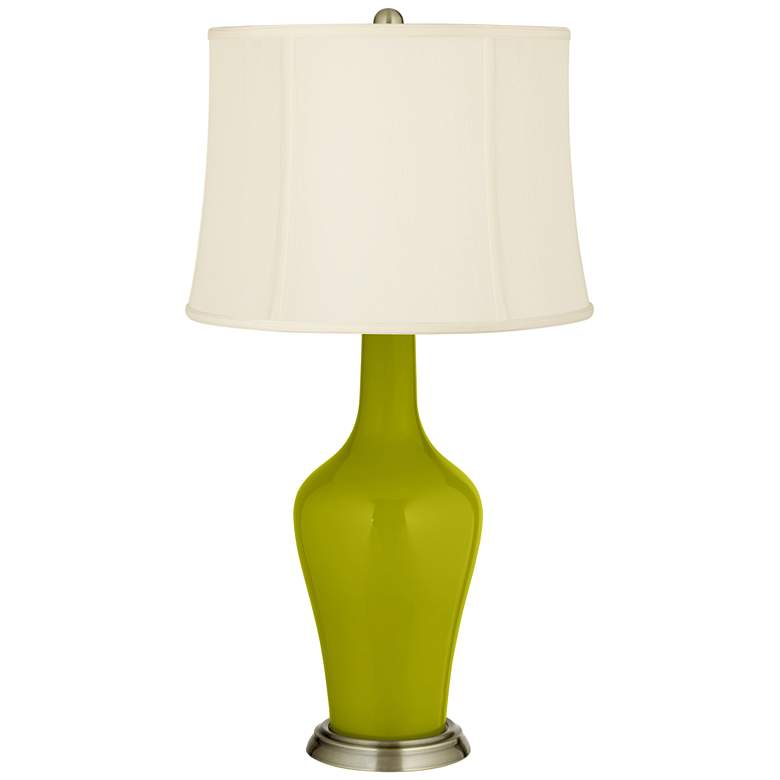 Olive Green Anya Table Lamp with Dimmer