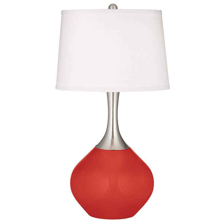 Cherry Tomato Spencer Table Lamp with Dimmer