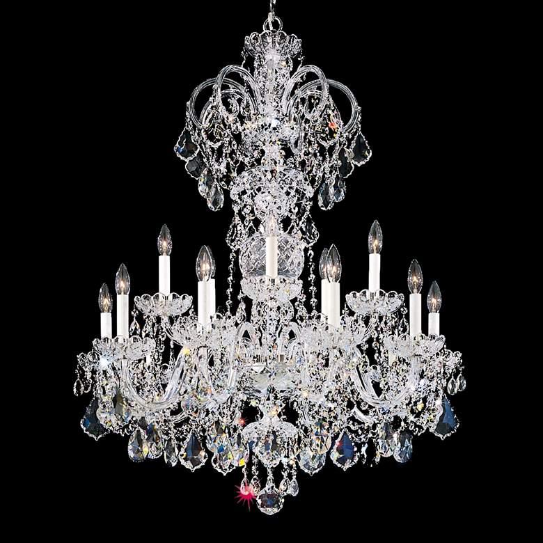 "Schonbek Olde World 32""W Silver Swarovski Crystal Chandelier"