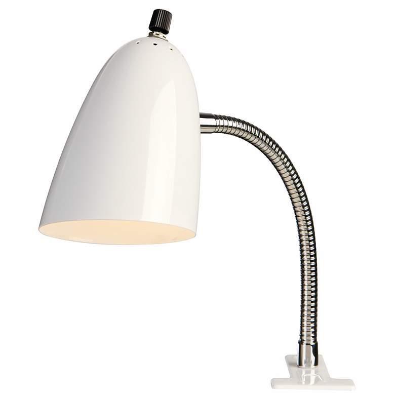 White Gooseneck Arm Clip Light By Pro Track