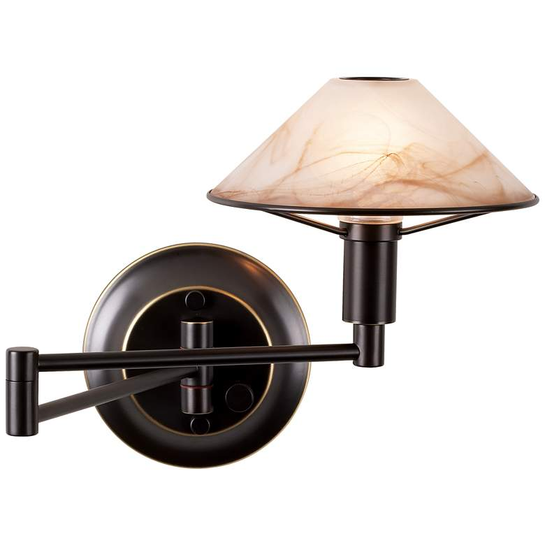 Holtkoetter Old Bronze Halogen Swing Arm Wall Lamp