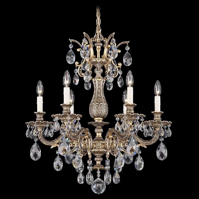 "Schonbek Milano 24"" Wide Bronze Clear Crystal Chandelier"