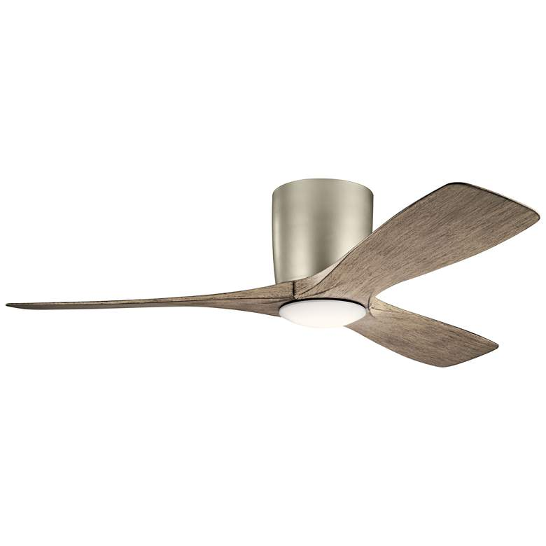 "48"" Kichler Volos Brushed Nickel Hugger LED Ceiling Fan"