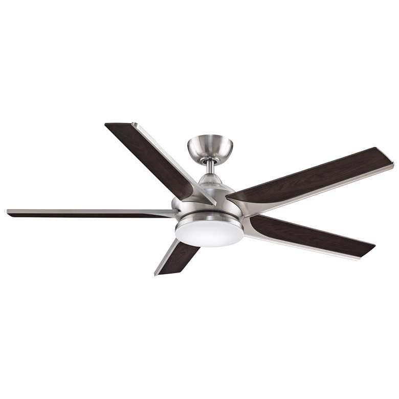 """56"""" Fanimation Subtle Brushed Nickel LED Damp Ceiling Fan"""