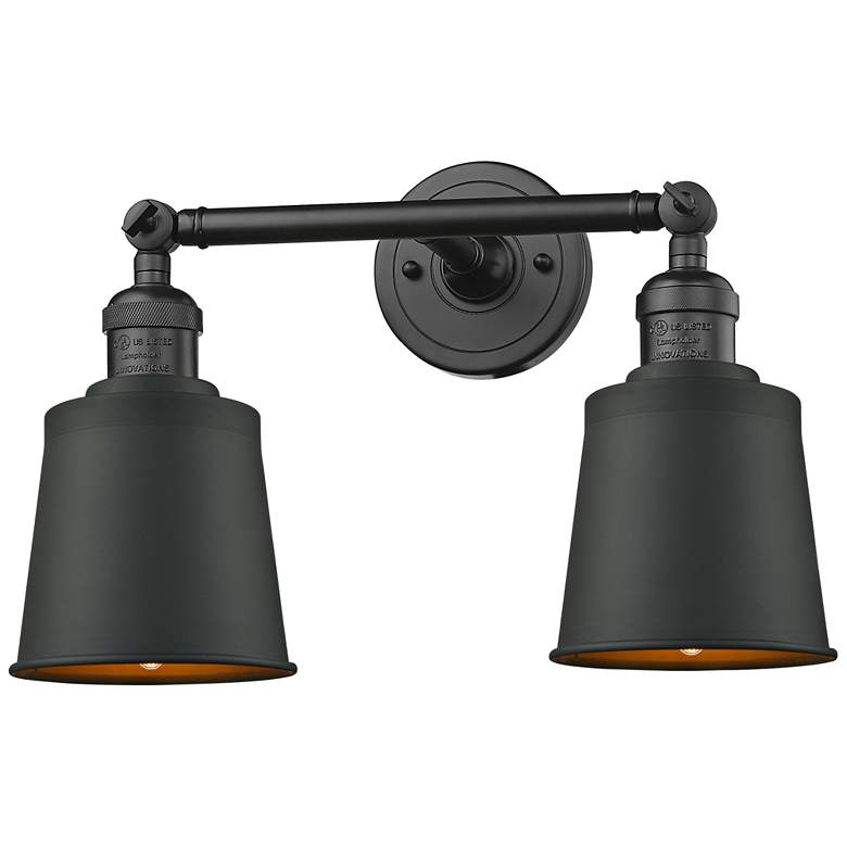 """Addison 7""""H Oil-Rubbed Bronze 2-Light Adjustable Wall Sconce"""