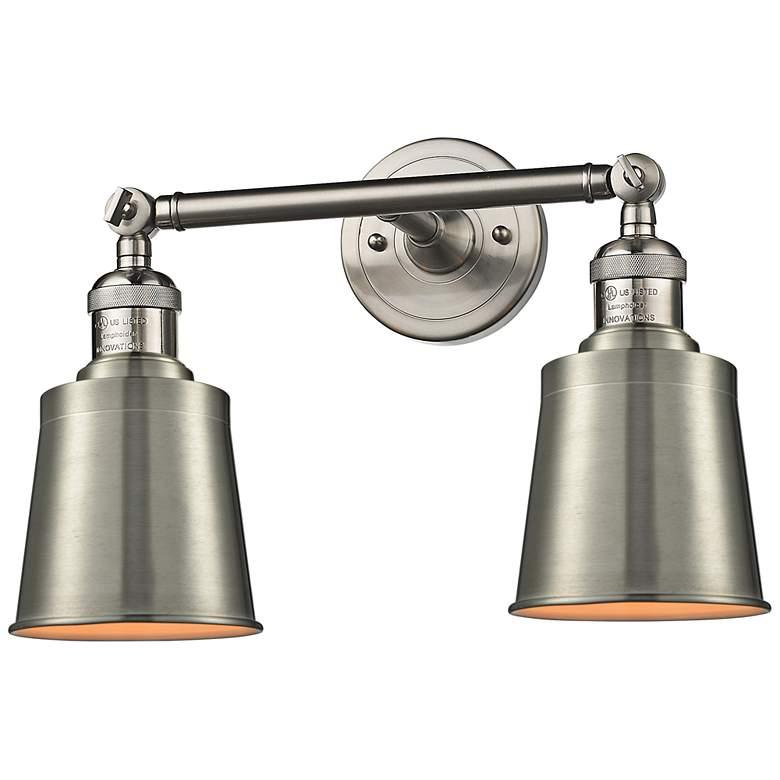 "Addison 7"" High Satin Nickel 2-Light Adjustable Wall Sconce"