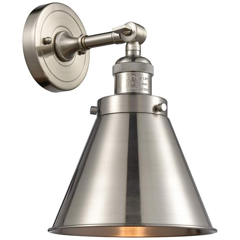 """Appalachian 13""""H Brushed Satin Nickel Adjustable Wall Sconce"""