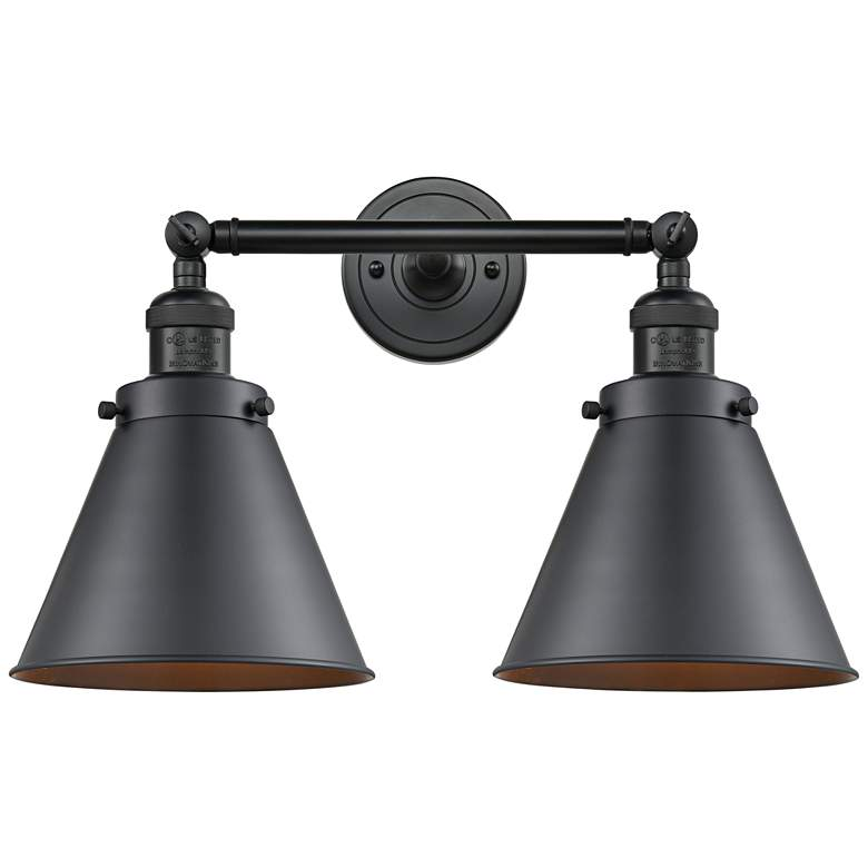 "Appalachian 12""H Matte Black 2-Light Adjustable Wall Sconce"