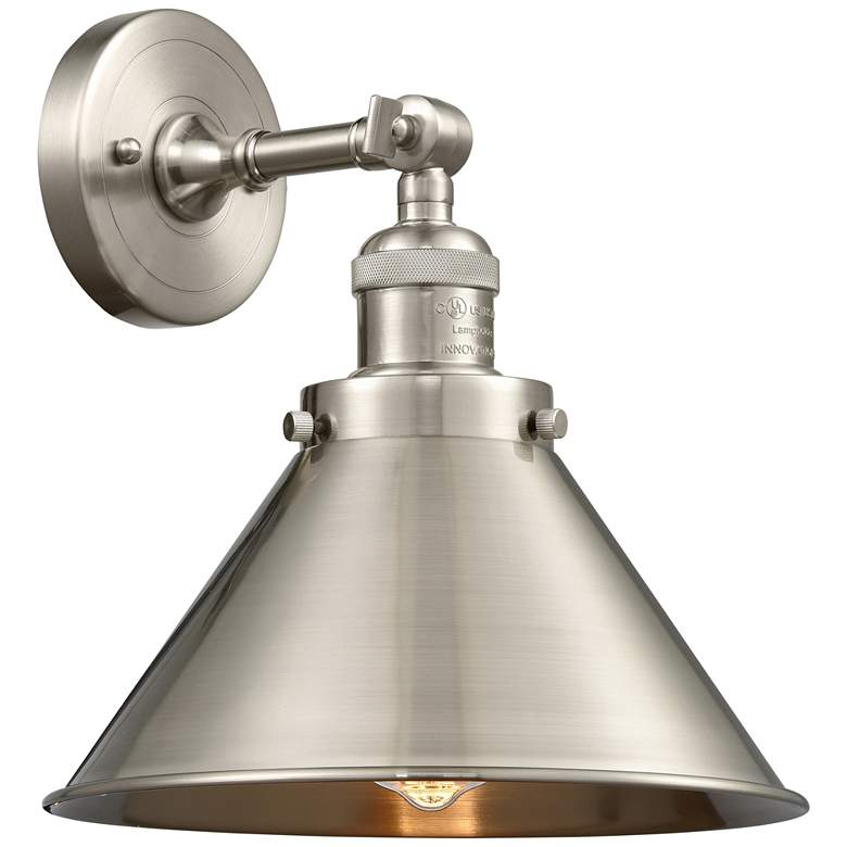 """Briarcliff 8""""H Brushed Satin Nickel Adjustable Wall Sconce"""