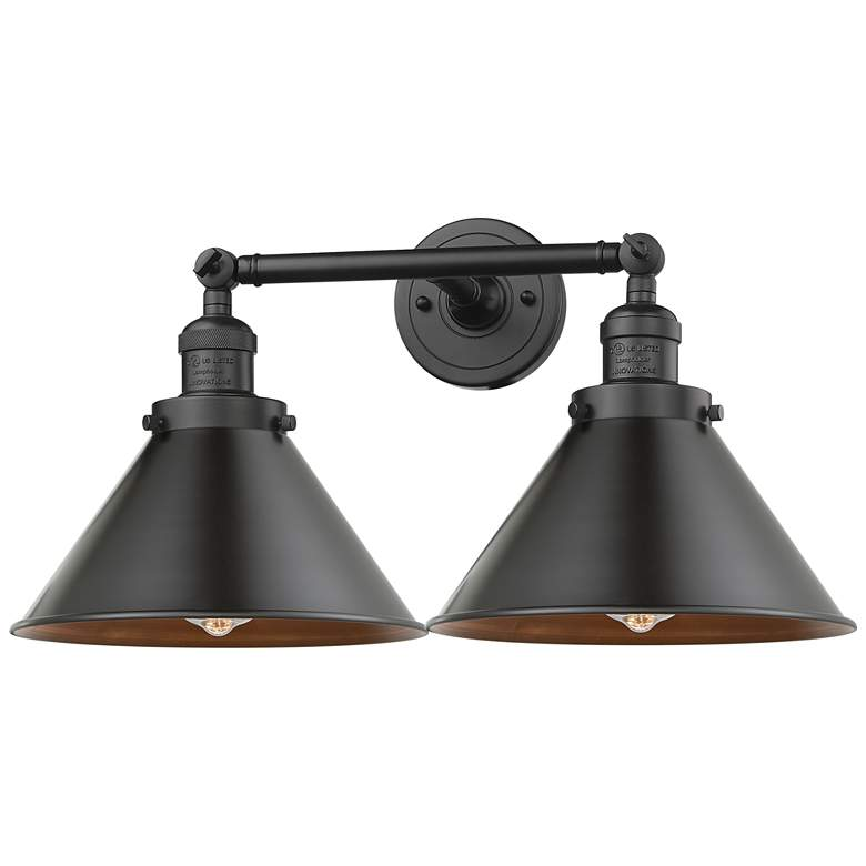"Briarcliff 9""H Matte Black 2-Light Adjustable Wall Sconce"