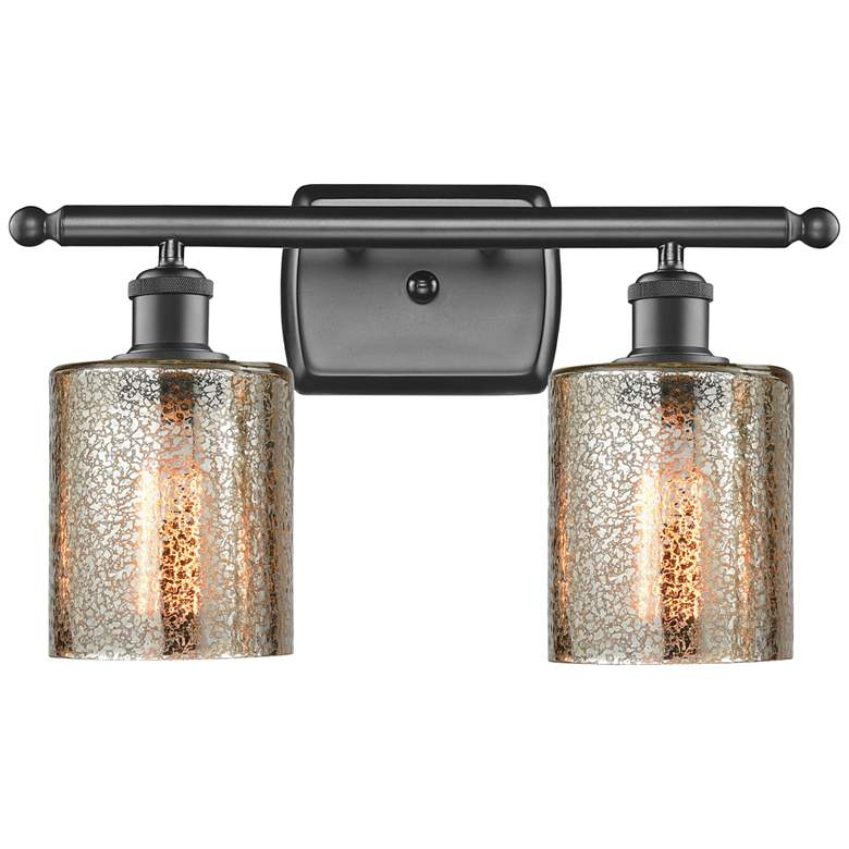 """Cobbleskill 9"""" High Oil-Rubbed Bronze 2-Light Wall Sconce"""