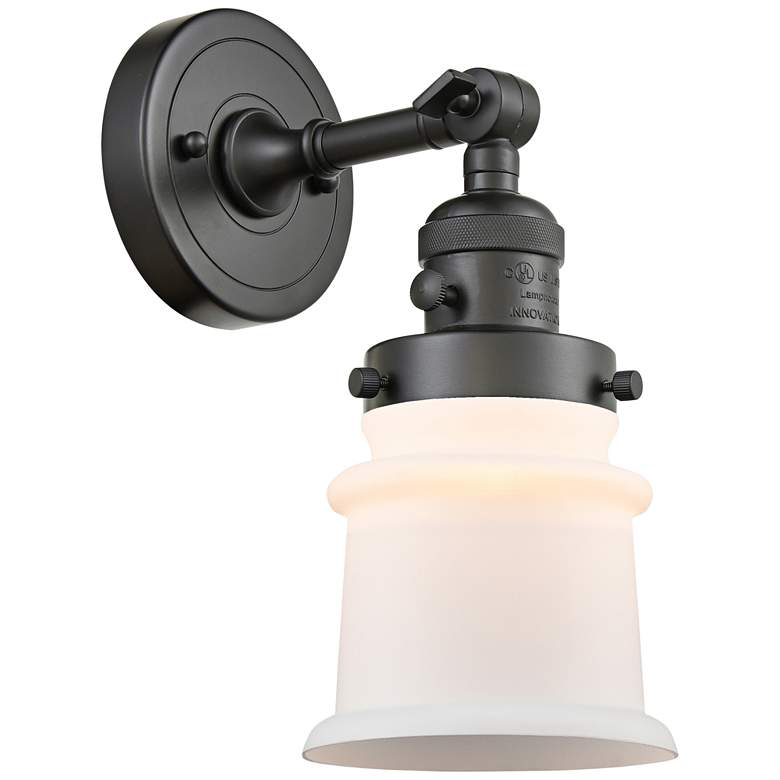 """Small Canton 11""""H Oil-Rubbed Bronze Adjustable Wall Sconce"""