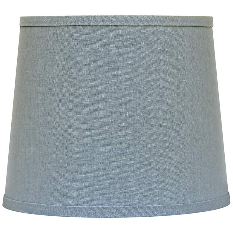 Porcelain Blue Hardback Drum Lamp Shade 8x10x9 (Spider)