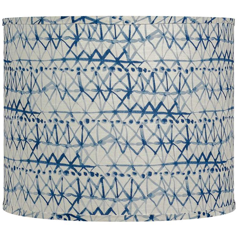 Tay Day Blue and White Drum Lamp Shade