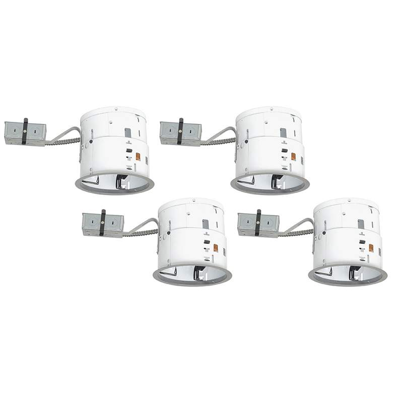 "Juno 6"" Line Voltage Non-IC Remodel Housings Set of 4"