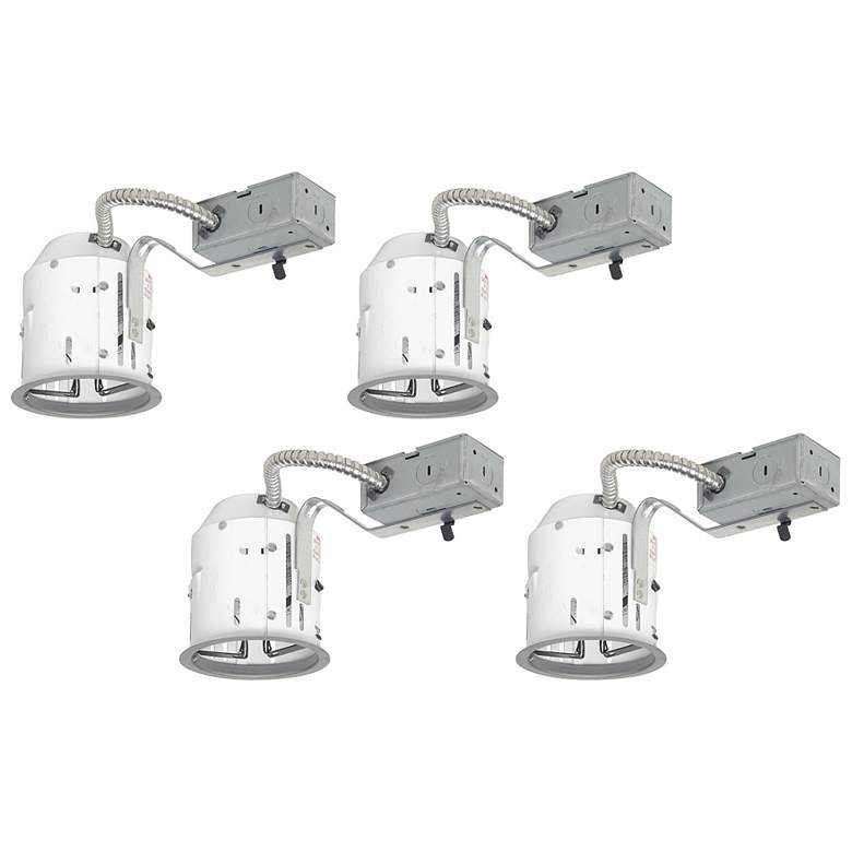 """Juno 4"""" Line Voltage Non-IC Remodel Housings Set of 4"""