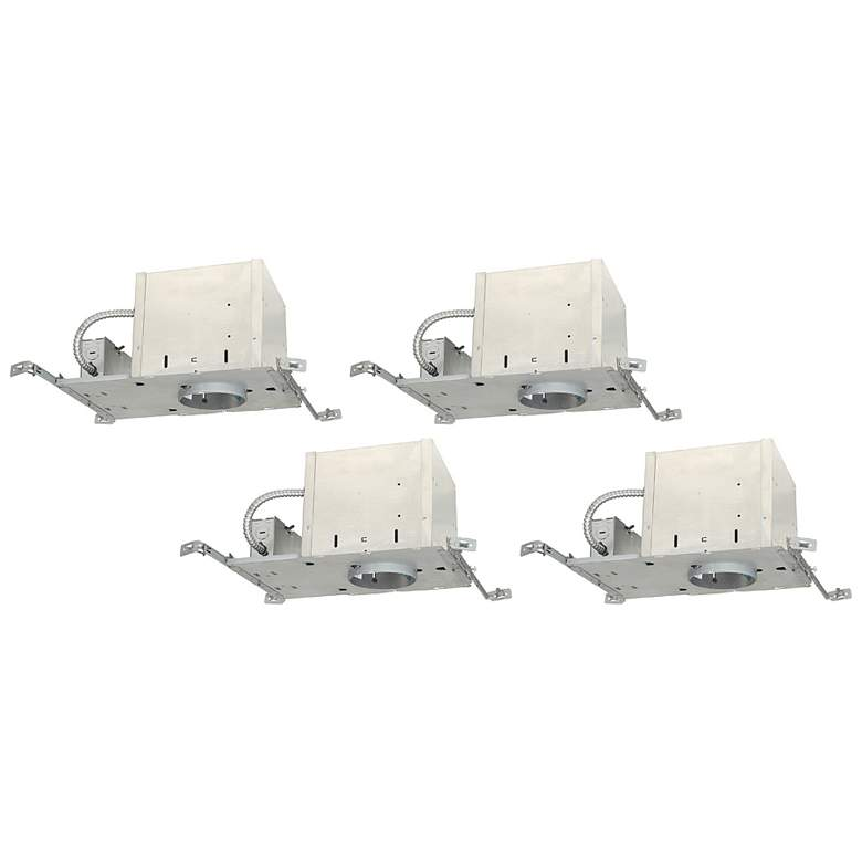 "Juno 4"" Line Voltage IC New Construction Housings Set of 4"