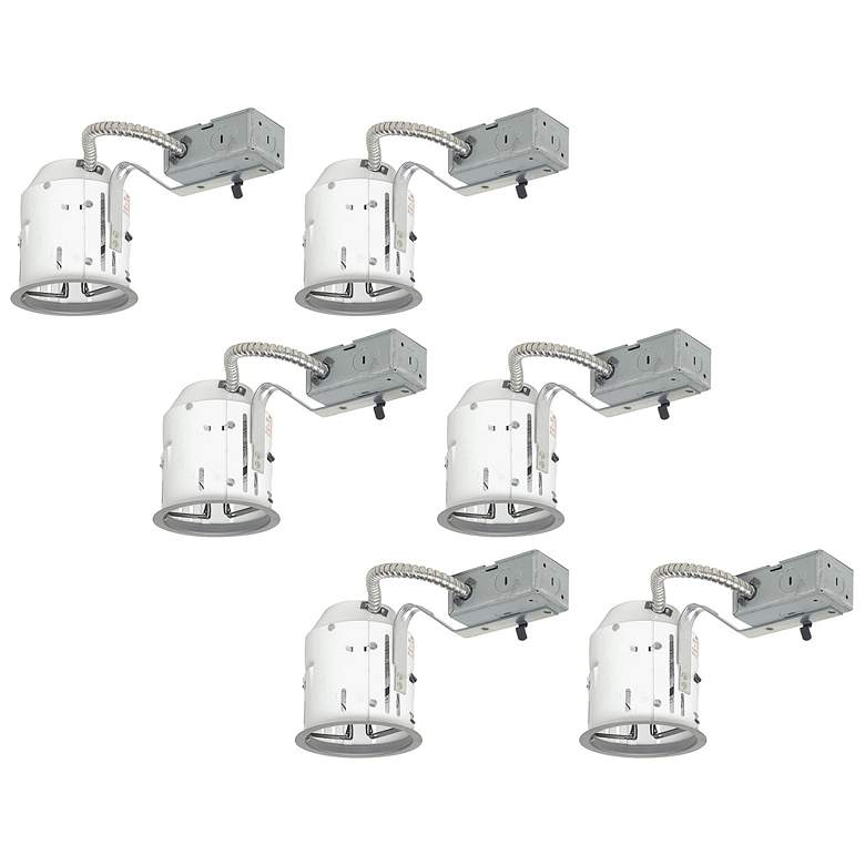 """Juno 4"""" Line Voltage Non-IC Remodel Housings Set of 6"""