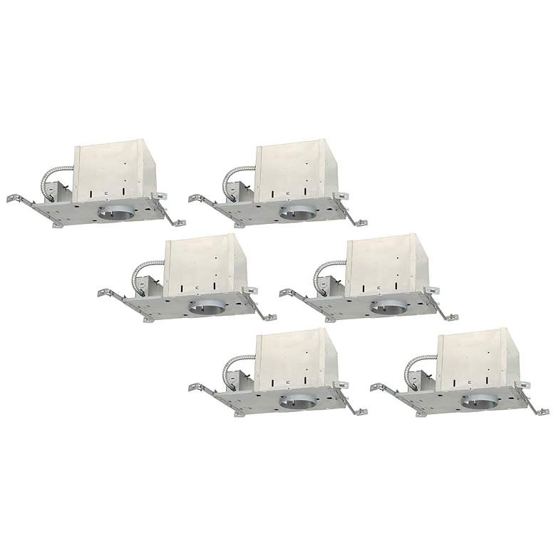"Juno 4"" Line Voltage IC New Construction Housings Set of 6"