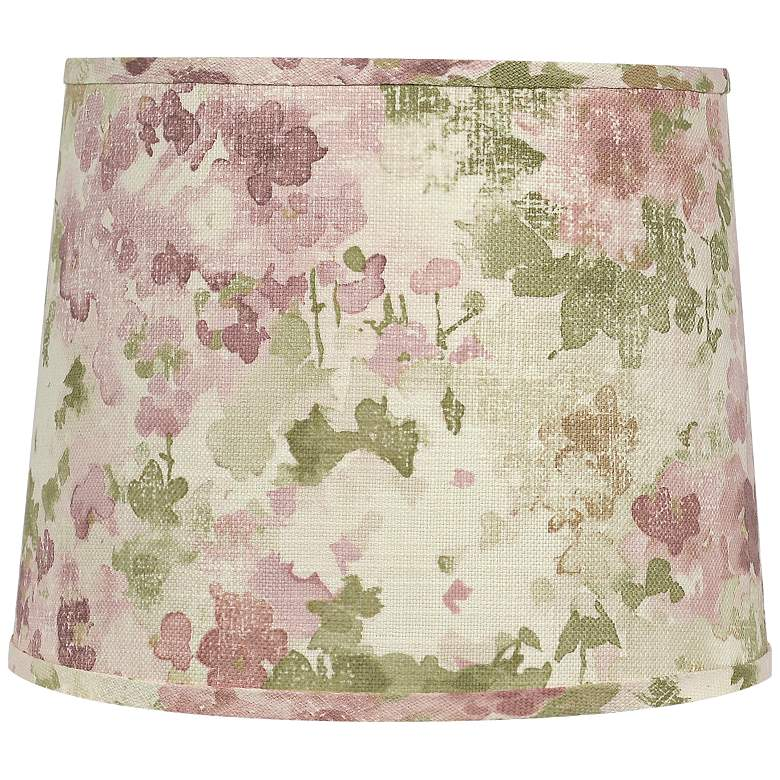 Fleurie Dusty Rose Linen Drum Shade 10x10x9 (Spider)