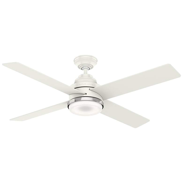 "54"" Casablanca Daphne Fresh White LED Ceiling Fan"