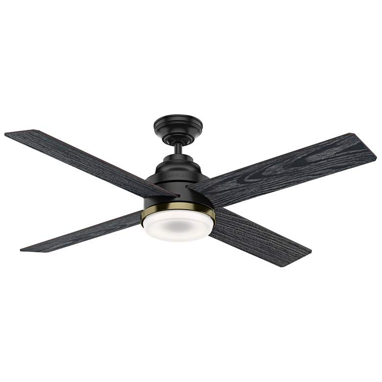 "54"" Casablanca Daphne Matte Black LED Ceiling Fan"