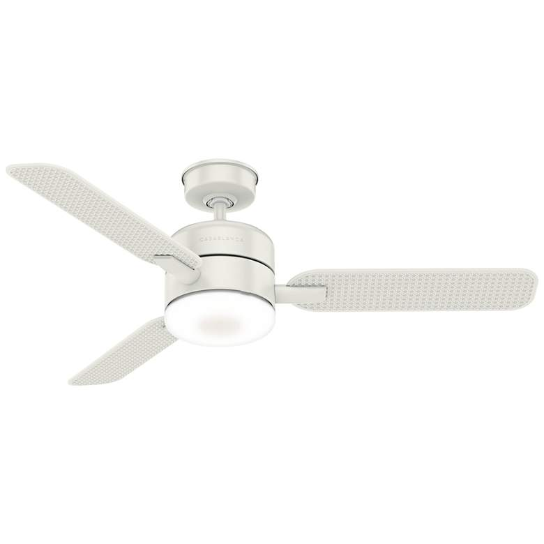 "54"" Casablanca Paume Fresh White LED Outdoor Ceiling Fan"