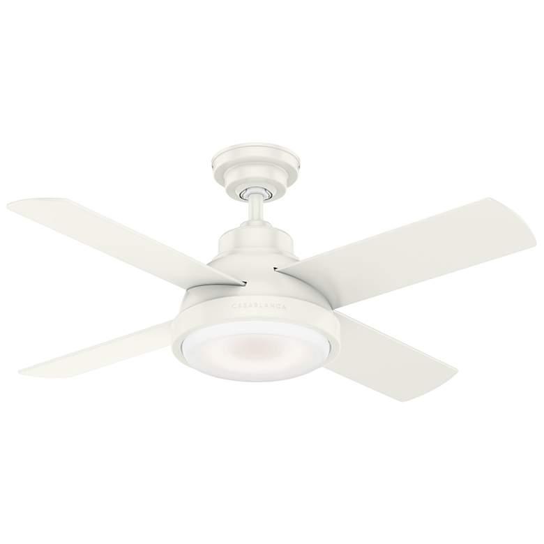 """44"""" Casablanca Levitt Fresh White LED Ceiling Fan"""