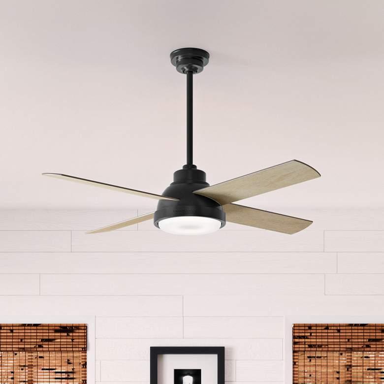 "44"" Casablanca Levitt Matte Black LED Ceiling Fan"