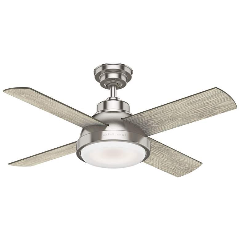 "44"" Casablanca Levitt Brushed Nickel LED Ceiling Fan"