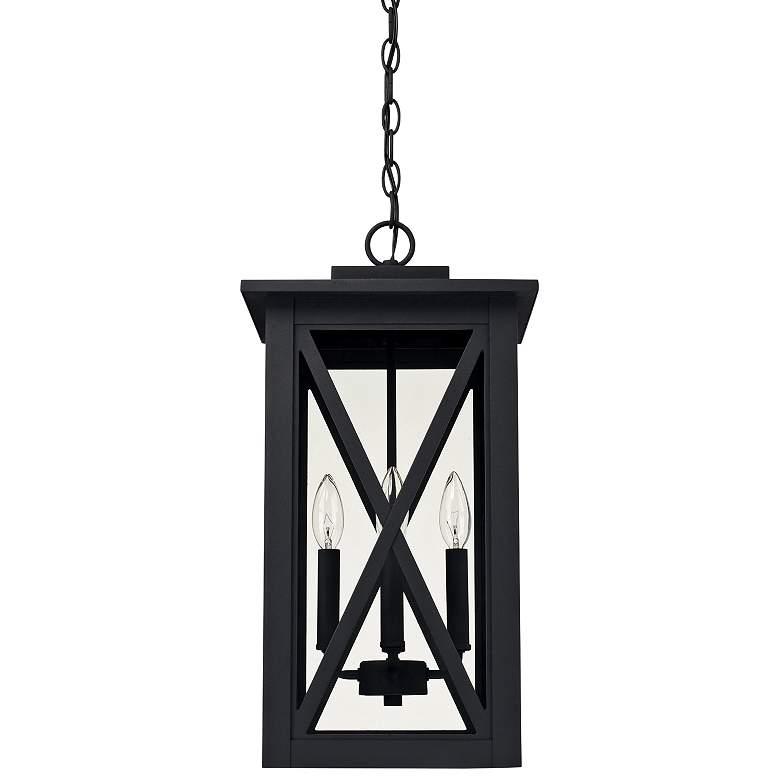"Capital Avondale 21 1/4"" High Black Outdoor Hanging Light"