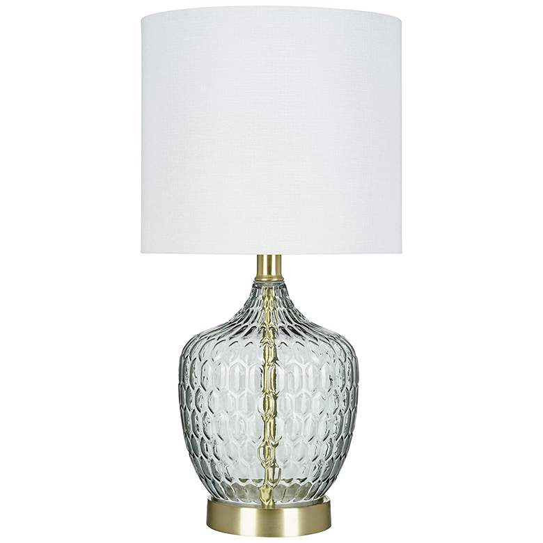 """Gray Glass 18"""" High LED Accent Table Lamp"""